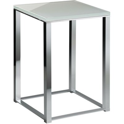 Simmerman Backless Vanity Stool Frame Color: Polished Chrome, Seat Color: White