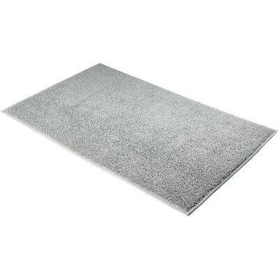 "Konieczny Absorbent 100% Cotton Bath Mat Size: 0.8"" H x 23.6"" W x 19.7"" D, Color: Silver Gray"
