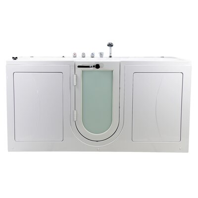 """Big4Two 80"""" x 36"""" Walk in Whirlpool Bathtub with Fast Fill Faucet"""