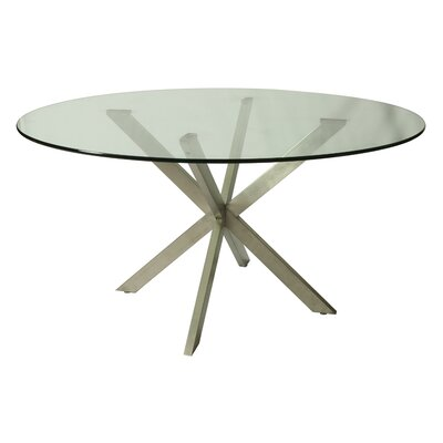 "Vittoria Round Glass Table Top Size: 56"" L x 56"" W"