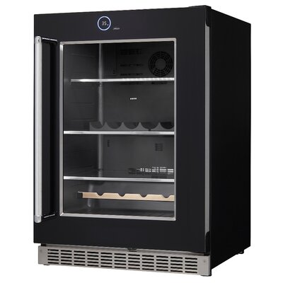 Bottle Cans Built-in All Fridge 23.88-inch 5 cu. ft. Undercounter Beverage Center Hinge Location: Left