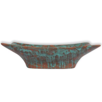New Magdalena Stone Rectangular Vessel Bathroom Sink with Overflow Sink Finish: Oxide