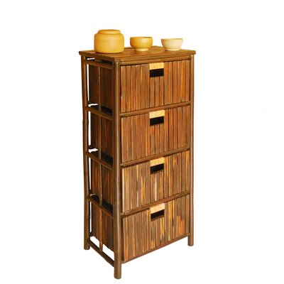 Lagoudera Bamboo 4 Drawer Accent Chest
