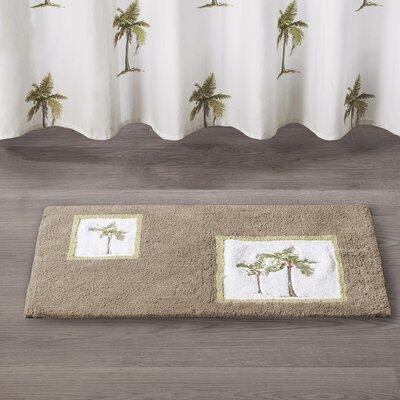 Micheal Palm Cotton Tufted Bath Rug