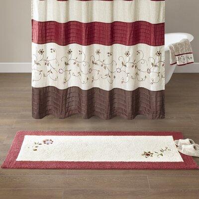 Laurel Embroidered Cotton Tufted Bath Rug Size: Large