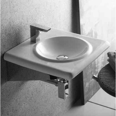 Luna Ceramic Circular Vessel Bathroom Sink