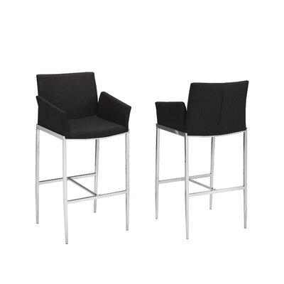 "Hagaman 29"" Bar Stool Upholstery: Black"