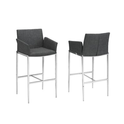 "Hagaman 29"" Bar Stool Upholstery: Gray"
