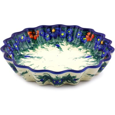 Non-Stick Polish Pottery Fluted Pie Dish