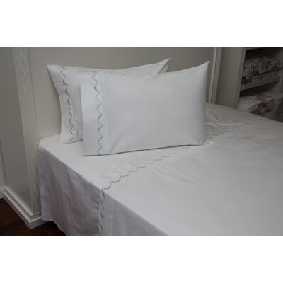 Claudie Embroidered Cotton Standard Pillow Color: White