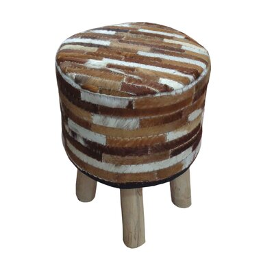 Lunada Accent Stool Upholstery: Ivory