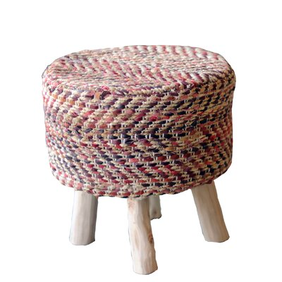 Lunada Accent Stool Upholstery: Red