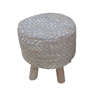 Lunada Accent Stool Upholstery: White