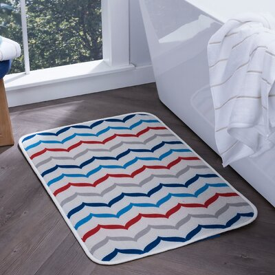 Finnigan Fish Tails Foam Core Comfort Bath Rug Size: 20'' x 30''