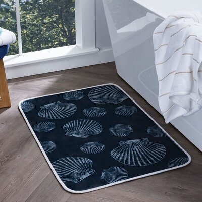 Dunbar Seashells Foam Core Comfort Bath Rug Size: 20'' x 30''