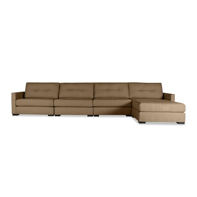Secrest Buttoned Chaise Modular Sectional Upholstery: Brown, Orientation: Left Hand Facing