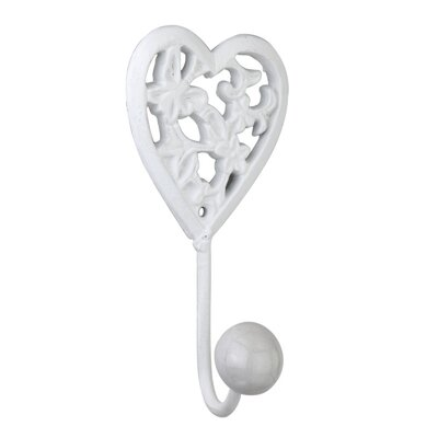 Whitcomb Ornate Heart Wall Hook (Set of 6)