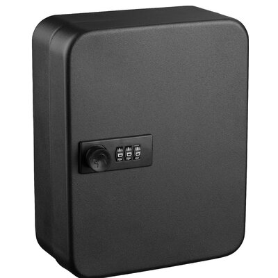 Secure 30 Key Cabinet with Key Lock Finish: Black