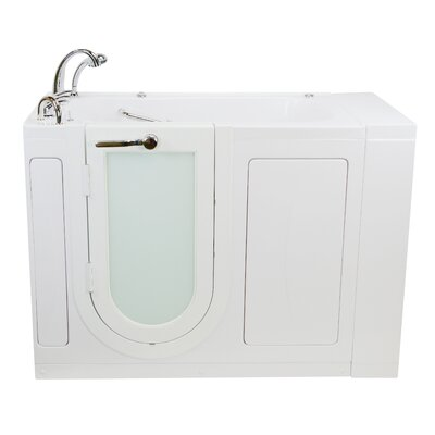 """Monaco Hydro Massage and Heated Seat 52"""" x 32"""" Walk in Whirlpool Bathtub with Fast Fill Faucet Set"""