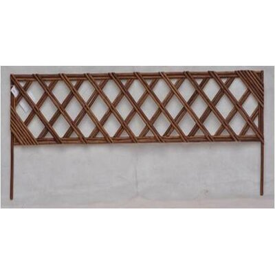 Unpeeled Willow Wood Lattice Panel Trellis