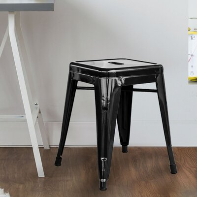 "Shelli 18"" Bar Stool Color: Black"
