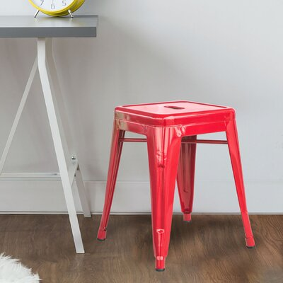 """Shelli 18"""" Bar Stool Color: Red"""
