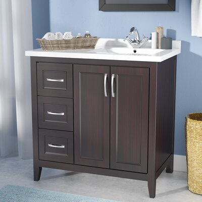 "Maldonado 36"" Single Bathroom Vanity Set Top Finish: Espresso"