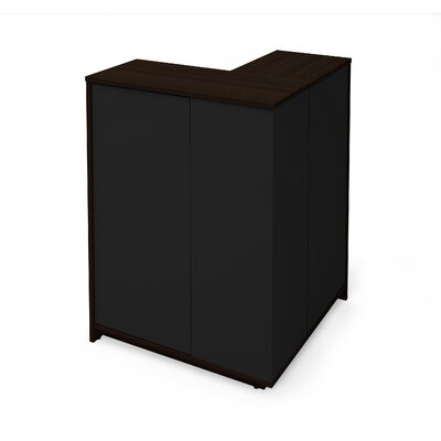 Accent Cabinet Color: Dark Chocolate/Black