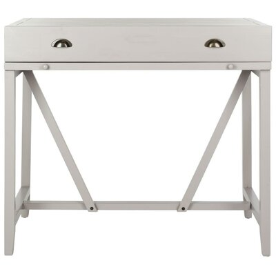 Somerton Hinged Hideaway Desk Color: Gray