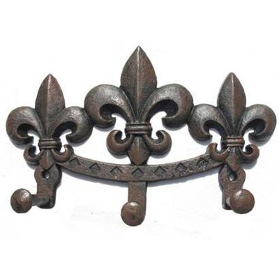 Hubbard Fleur De Lis Wall Mounted Coat Rack