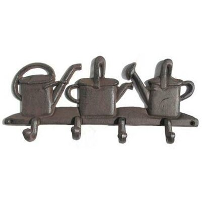 Alessandra Watering Cans Wall Mounted Coat Rack