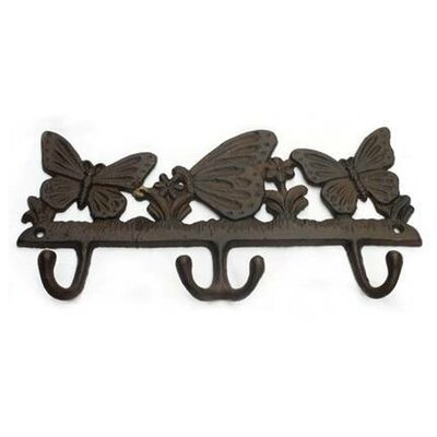 Alexus Butterflies Wall Mounted Coat Rack