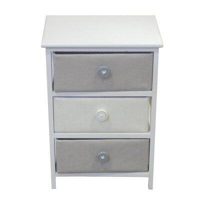 Baldric Wooden 3 Drawer Accent Cabinet