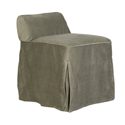 Suvi Slipcover Vanity Stool Color: Portsmouth Loden