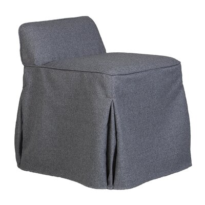 Suvi Slipcover Vanity Stool Color: Bentley Sea