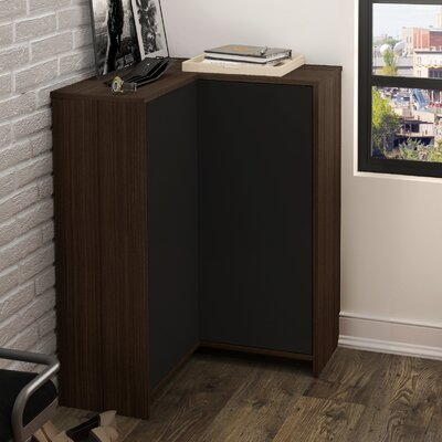 2 Door Accent Cabinet Color: Dark Chocolate/Black