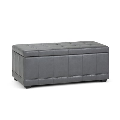 Westchester Upholstered Storage Bench Upholstery: Stone Gray