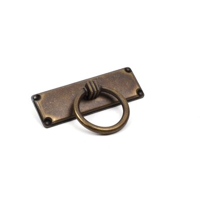 "Rio Zinc Die Cast 2 1/2"" Center Ring Pull Finish: Weathered Brass"