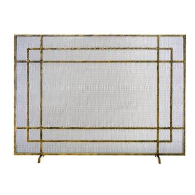 Iris Designer Single Panel Steel Fireplace Screen