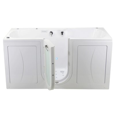 """Big4Two 80"""" x 36"""" Walk in Whirlpool Bathtub with Fast Fill Faucet and Microbubbles"""