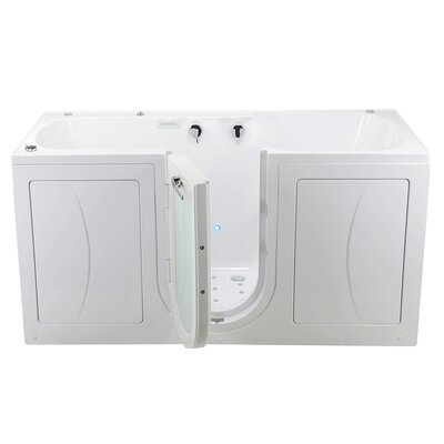 """Big4Two 80"""" x 36"""" Walk in Whirlpool Bathtub with Fast Fill Faucet, Microbubble, and Heated Seats"""