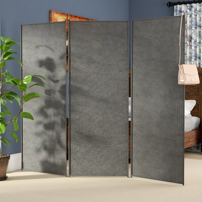 Zula Outdoor 3 Panel Room Divider Finish: Gray