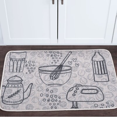 Drumavoley Kitchen Items Foam Core Bath Rug Size: 2' x 3'