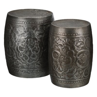 Romey 2 Piece Garden Stool Set