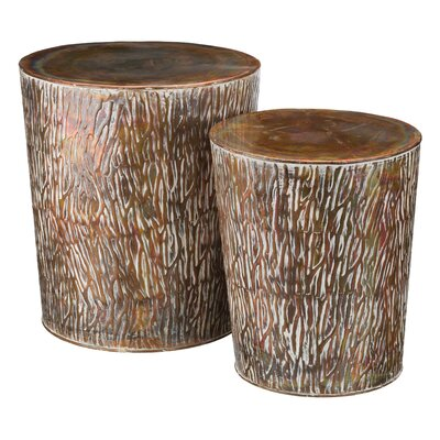 Damaris 2 Piece Garden Stool Set