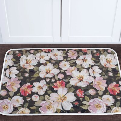 Courtright Flowers Foam Core Bath Rug Rug Size: 2' x 3'