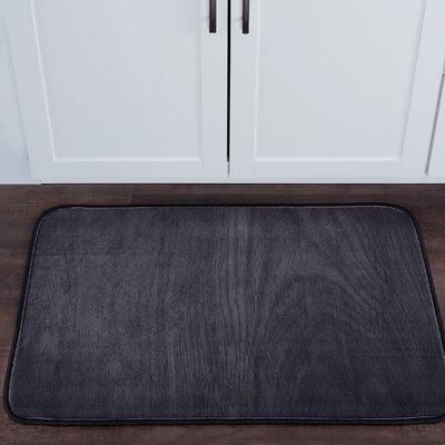 Drumavoley Woodgrain Foam Core Bath Rug Size: 20'' x 30''