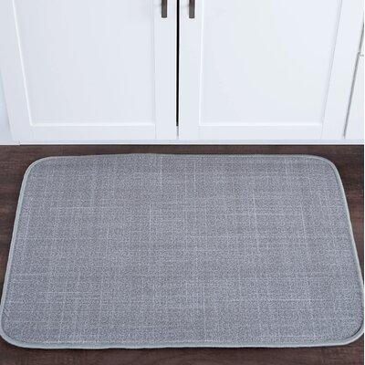 Drumavoley Linen Foam Core Bath Rug Size: 20'' x 30''