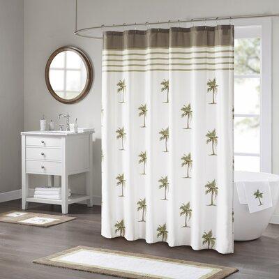 Eastweald Palm 100% Cotton Shower Curtain