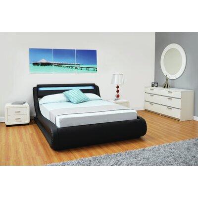 Haskett Beaulieu Serpentine Full Storage Platform Bed Color: Black